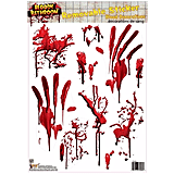 Bloody Tile Bathroom Cling ($5)