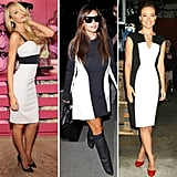 Colorblocking has been hot for a while now, but we — and celebs like Candice Swanepoel, Kim Kardashian, and Olivia Wilde — especially love the retro feel of a black-and-white colorblock dress. If you're loving the look too, then shop some of our favorite picks here.