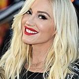 Gwen Stefani With Her Current Platinum Hair