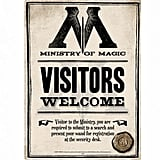 Ministry of Magic Visitors Welcome Sign