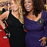 Oprah Winfrey and Mariah Carey showed their excitement.