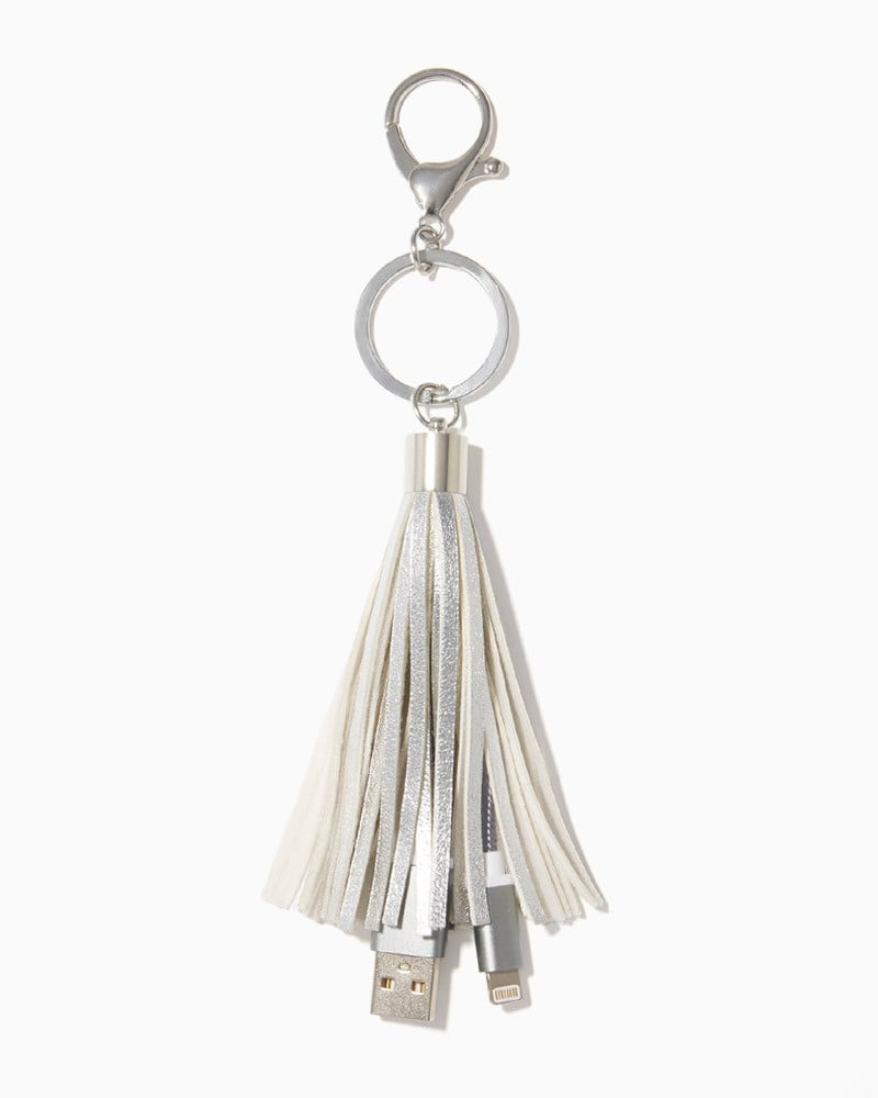 Charming Charlie Tassel Charging Keychain ($12)
