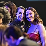 Margaret Qualley and Jennifer Garner at the 2020 SAG Awards