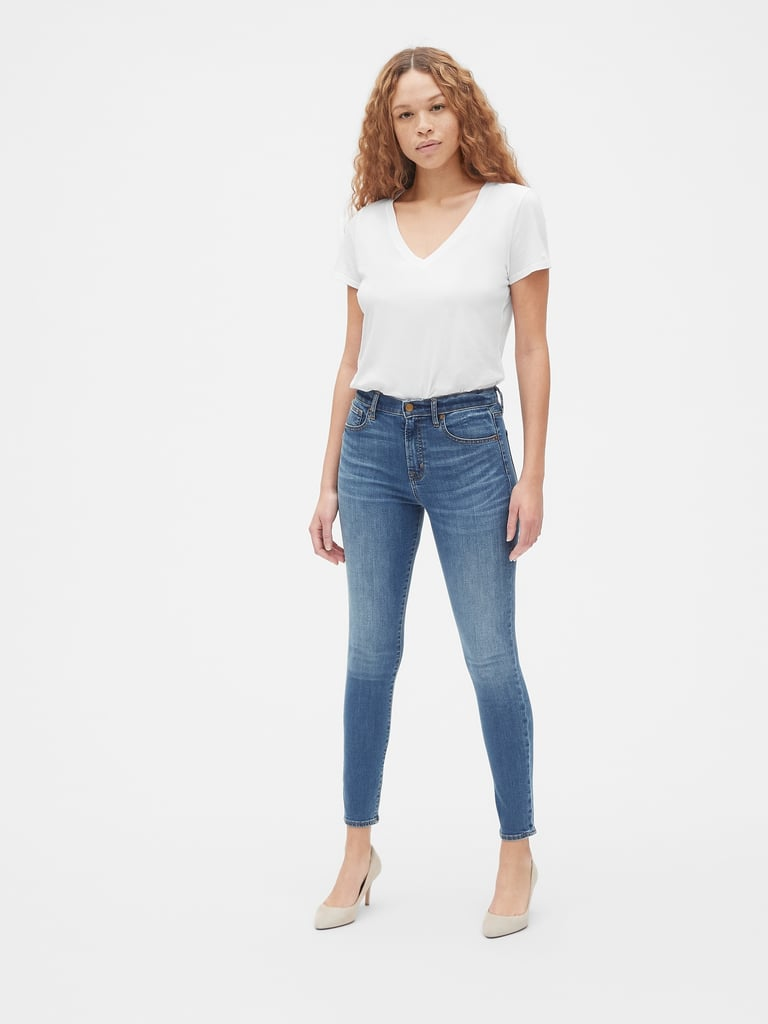 d36ae0d783 Gap High Rise True Skinny Jeans With Secret Smoothing Pockets | Best ...