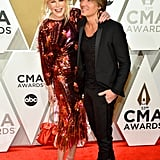 Nicole giggled on the red carpet with Keith at the 2109 CMA Awards.