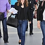 Jennifer Garner's studded jacket totally amped up her denim in Toronto.
