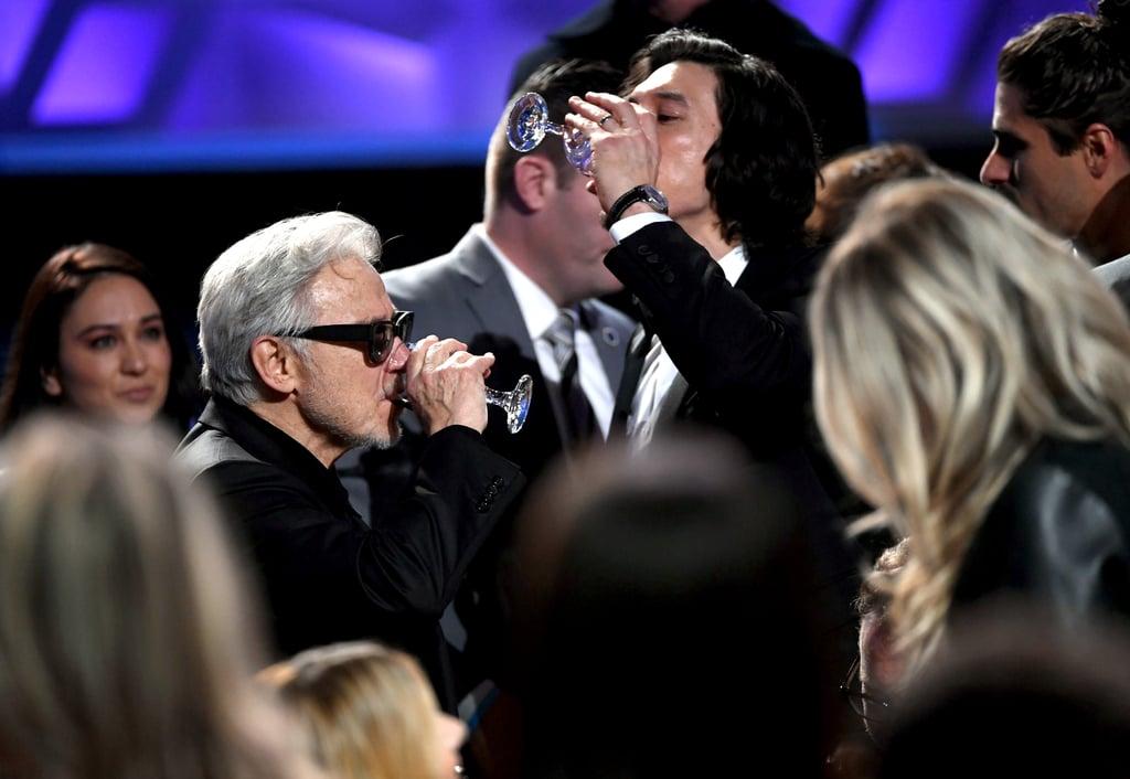 Harvey Keitel and Adam Driver at the 2020 Critics' Choice Awards