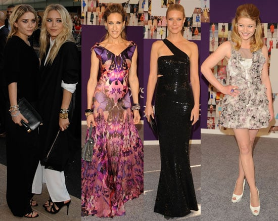 Pictures of Sarah Jessica Parker, Gwyneth Paltrow, Mary-Kate Olsen, Ashley Olsen at 2010 CFDA Awards