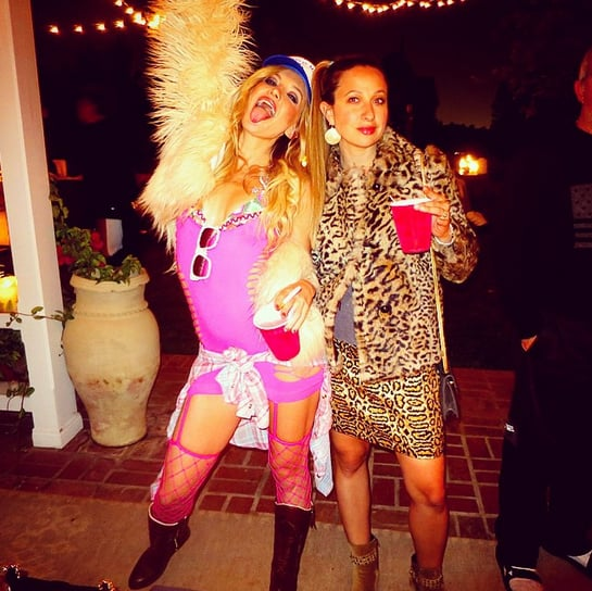 """Kate Hudson was a hot mess at her 36th birthday party — because she was sticking to the theme. Over the weekend, she had a joint birthday party with jewellery designer Jennifer Meyer and fashion writer Derek Blasberg, and the whole group got into the spirit of their """"hot mess"""" theme. Derek posted a picture of Kate and Jennifer in their outfits, saying, """"Last night me and these lovely ladies had a threesome birthday party and the theme was 'Hot Mess' and none of us needed to go shopping for costumes."""" Kate also shared fun snaps on social media, posting a picture of the group and writing, """"Let me tell ya, there were some very committed hot messes last night ;)."""" There were a few famous guests at the birthday bash, too, including Sara Foster and Jessica Alba. Derek and Jessica posed for a cute picture together, and he joked of the theme, """"@jessicaalba was hot. I was a mess."""" Keep reading to see the fun party snaps, then check out how Kate celebrated with her sons."""