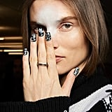Rag and Bone's Black-and-White Marble Nails at NYFW Autumn 2020