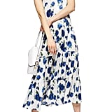 Topshop Floral Tiered Satin Slipdress