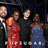 Pictured: Michael B. Jordan, Danai Gurira, Timotheé Chalamet, Lupita Nyong'o, and Janelle Monáe