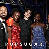 Pictured: Michael B. Jordan, Danai Gurira, Timothe Chalamet, Lupita Nyong'o, and Janelle Monáe