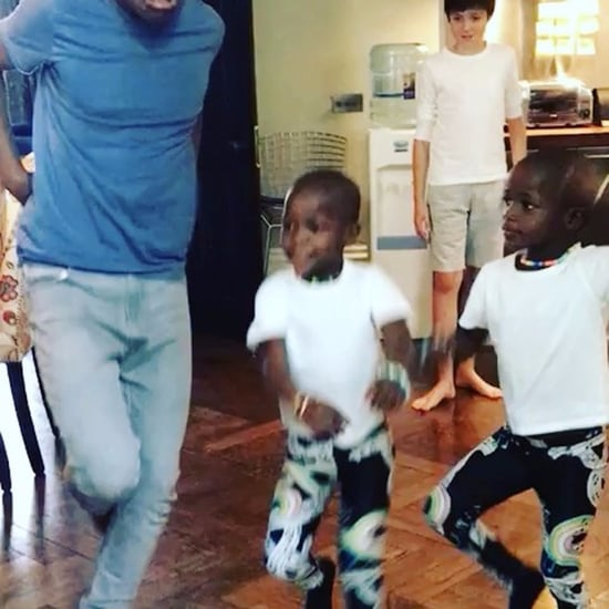 "Madonna's Twin Daughters Dancing to ""Holiday"" Video 2017"