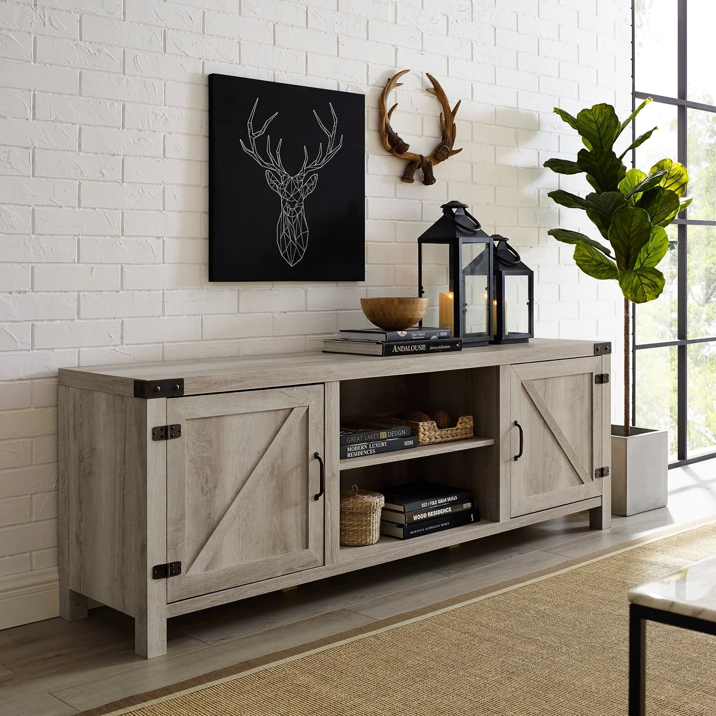 Modern Farmhouse Barn Door Tv Stand Best Target Living Room Furniture With Storage Popsugar Home Australia Photo 12