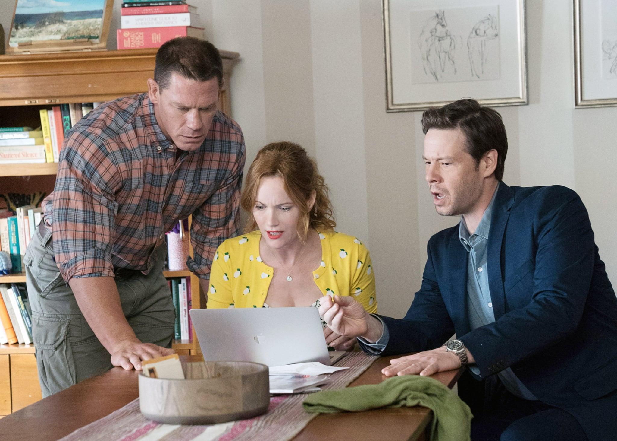 BLOCKERS, from left: John Cena, Leslie Mann, Ike Barinholtz, 2018. ph: Quantrell D. Colbert / Universal Pictures /Courtesy Everett Collection