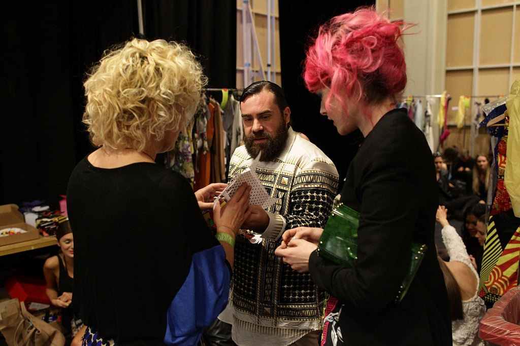 The Romance Was Born designers backstage.