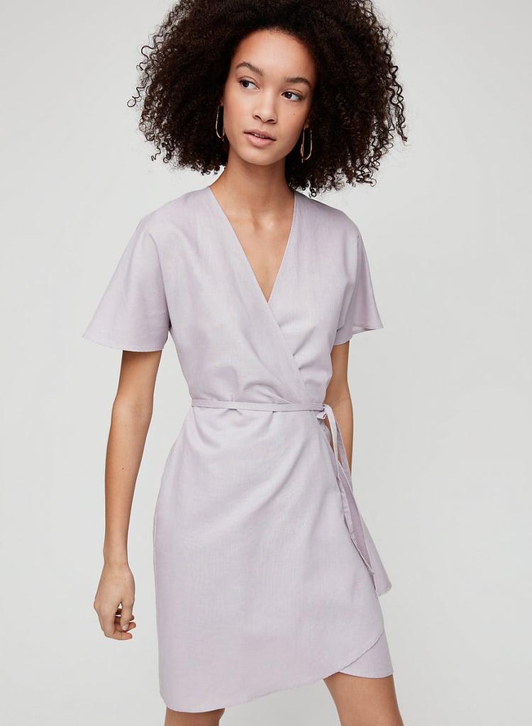 Babaton Wallace Linen Dress