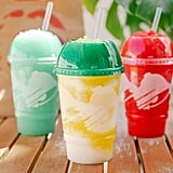 Taco Bell's Pineapple Whip Freeze and Tie-Dye Freeze Drinks