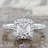 Ken & Dana Design Cushion Diamond Halo Engagement Ring