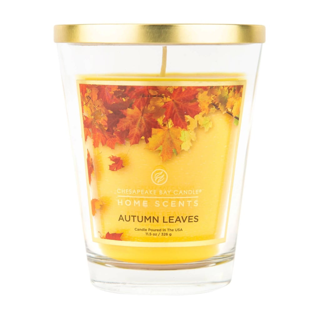 Autumn Leaves Glass Jar Candle