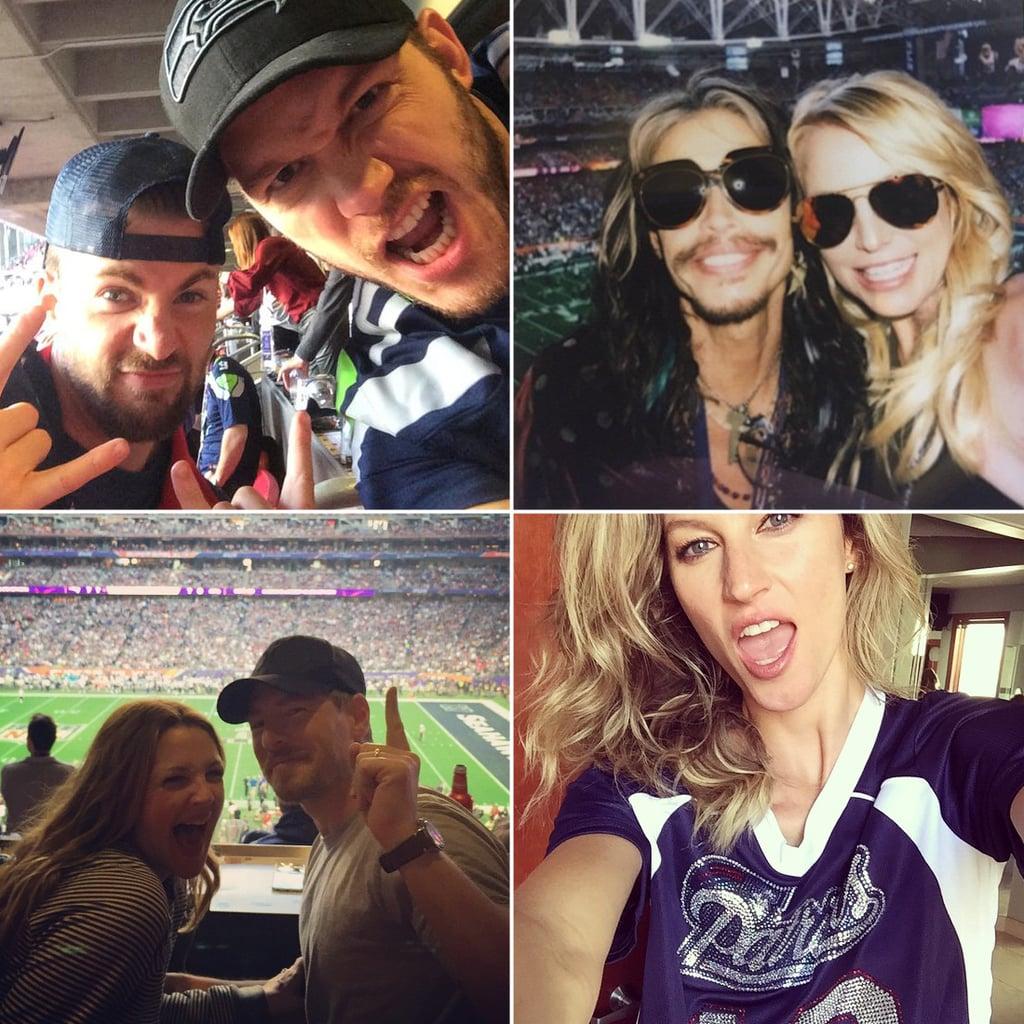 Stars Share Their Super Bowl Spirit in Fun Social Snaps