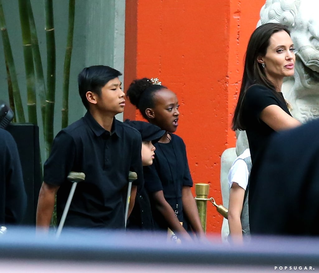 Angelina Jolie had the support of her adorable family at the LA premiere of her new film Kung Fu Panda 3 on Saturday. The actress walked the red carpet solo but later met up with her children Pax, Shiloh, Vivienne, and Zahara Jolie-Pitt. During a recent interview with ET, Angelina revealed that four of her children, Pax, Zahara, Shiloh, and Knox, lent their voices to the animated film. Also in attendance were Angelina's costars Jack Black, Lucy Liu, and Kate Hudson, who also brought along her two boys, Bingham Bellamy and Ryder Robinson. Keep reading to see all the fun photos from Angelina's family day out, and then check out her cutest moments with Brad Pitt.