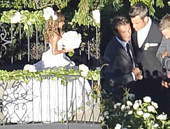 Pictures of Robbie Williams Wedding To Ayda Field, Picture Of Ayda Field's Wedding Dress
