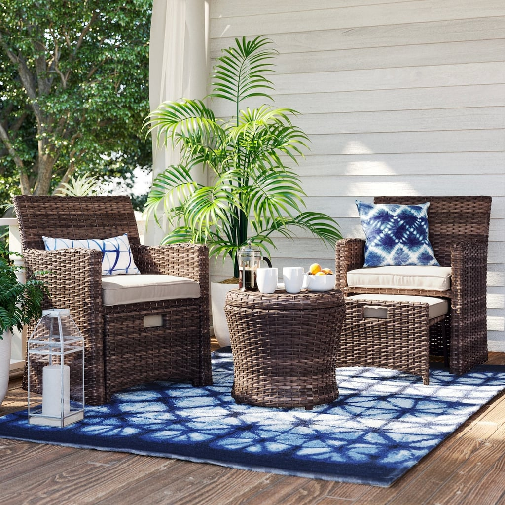 Halsted Wicker Small Space Patio Furniture Set | Best ... on Living Spaces Patio Set id=62653