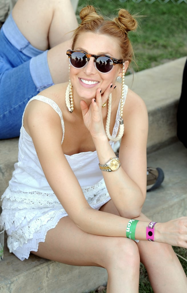 Whitney Port wore her hair in cute buns in 2011.