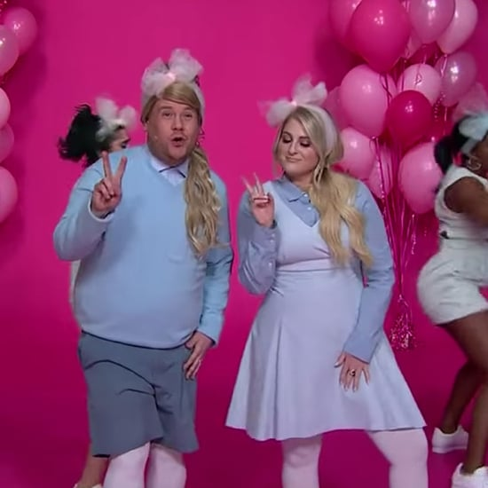 "Meghan Trainor and James Corden ""All About That Bass"" Parody"
