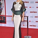 Gwyneth Paltrow wore Antonio Berardi to the Iron Man 3 premiere in LA.