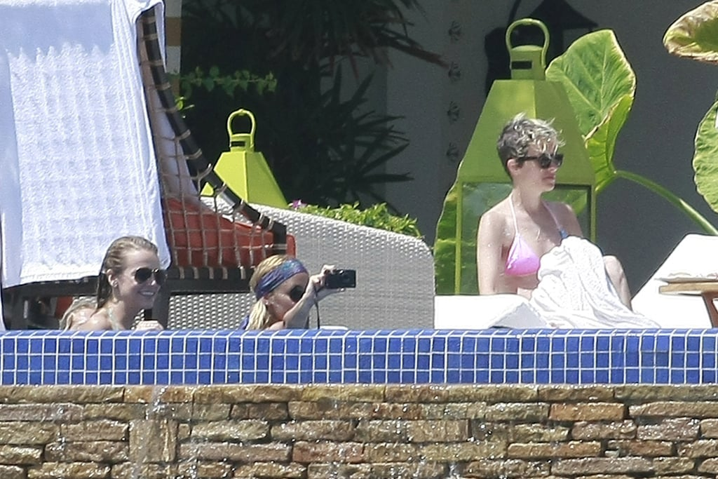 Nicole Richie took pictures from her pool in Cabo.