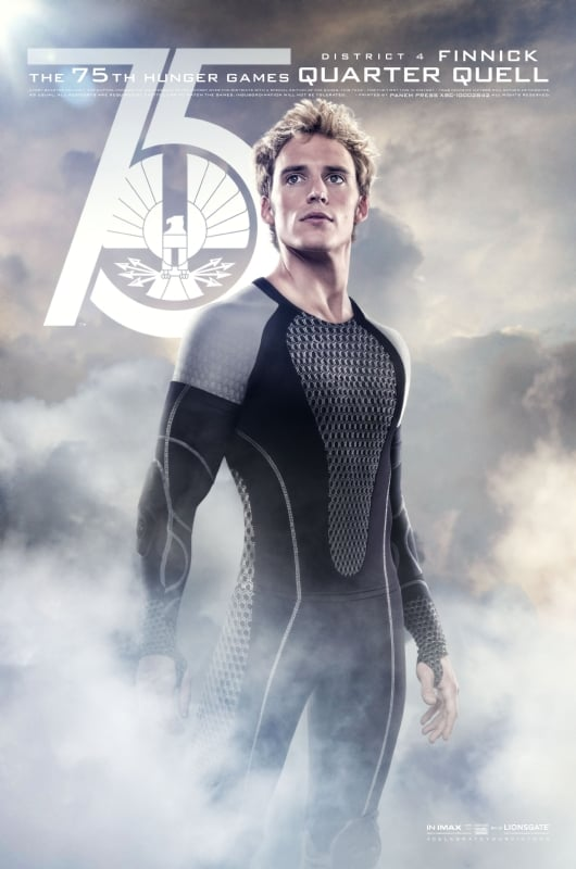 Sam Claflin plays Finnick, a former Hunger Games victor ...