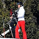Kate Middleton threw her skis over her shoulder while on vacation in France.