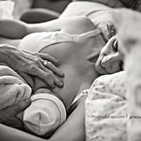 """I just love the juxtaposition of this experienced midwife's hands against this young mother and newborn babe's skin."""