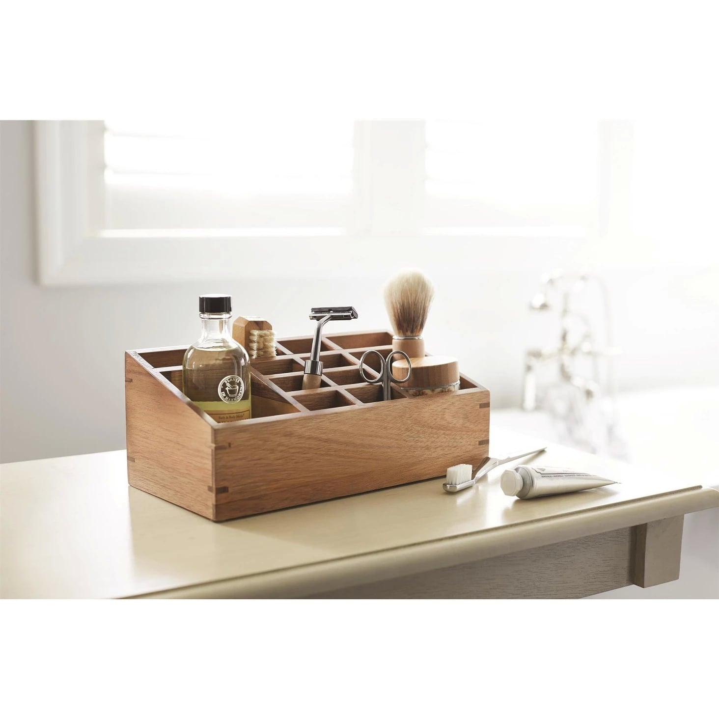 12 Compartment Vanity Organizer In Wood Go Ahead And Thank Target Now Because These Organizers Are Bathroom Game Changers Popsugar Home Photo 25