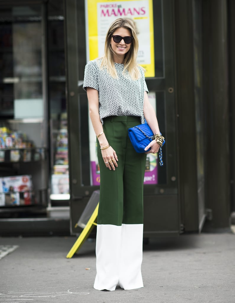 Colorblock trousers in super contrasting shades are guaranteed to catch the eye. Source: Le 21ème | Adam Katz Sinding