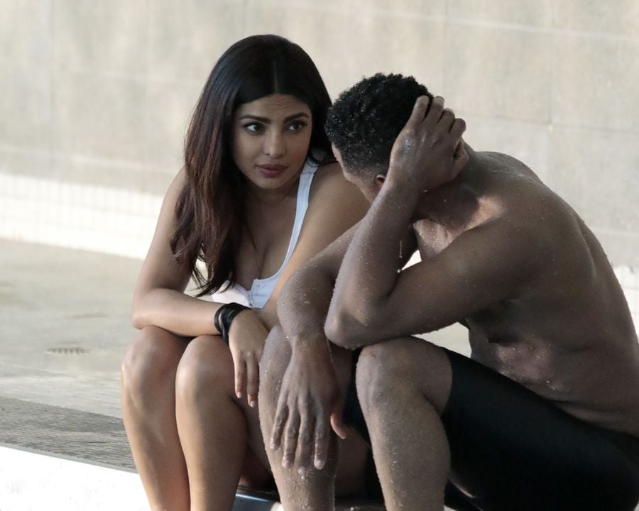 Priyanka Chopra's White Swimsuit in Quantico