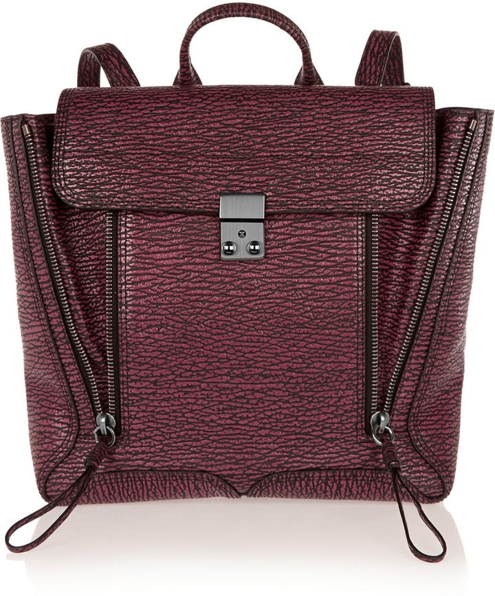 3.1 Phillip Lim The Pashli Textured-Leather Backpack ($488)