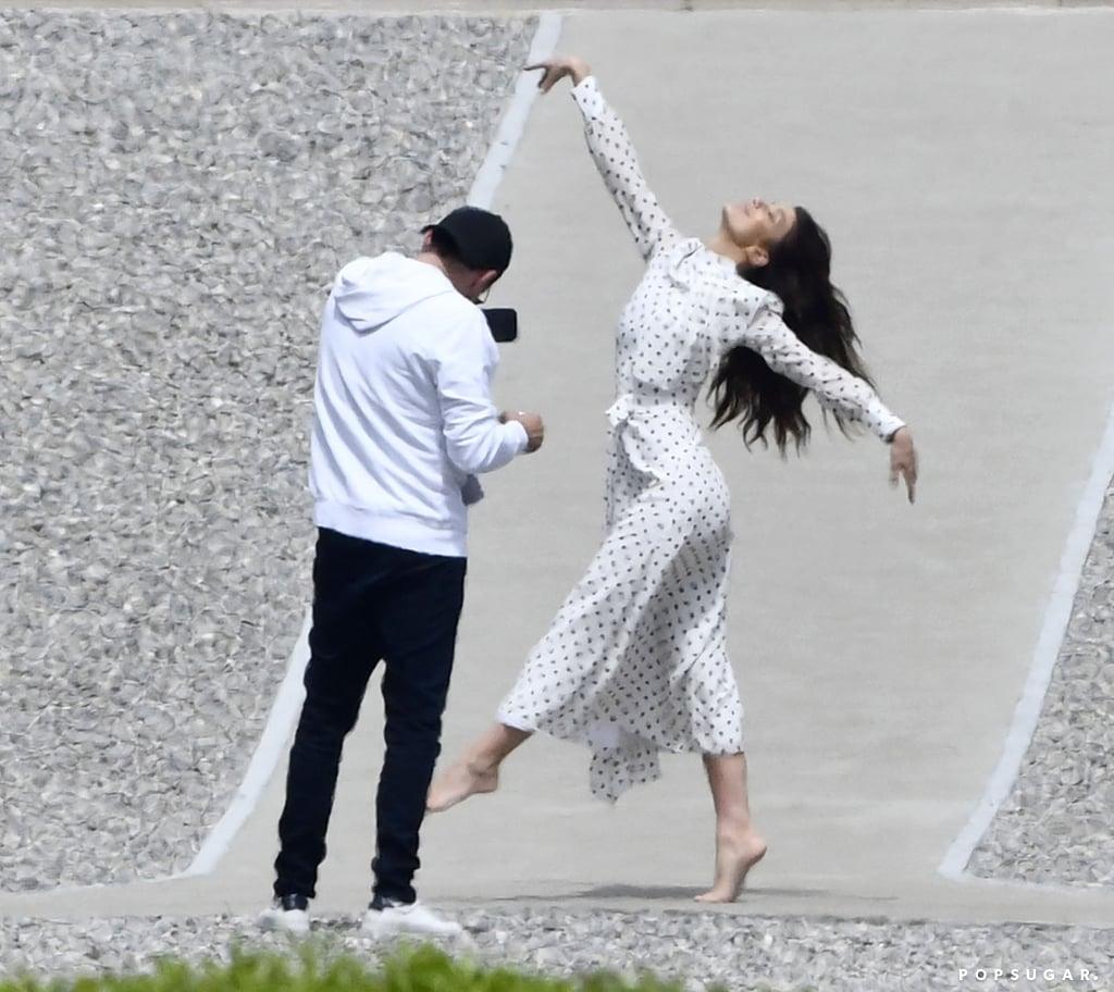 Leonardo DiCaprio Taking Pictures of Camila Morrone May 2019