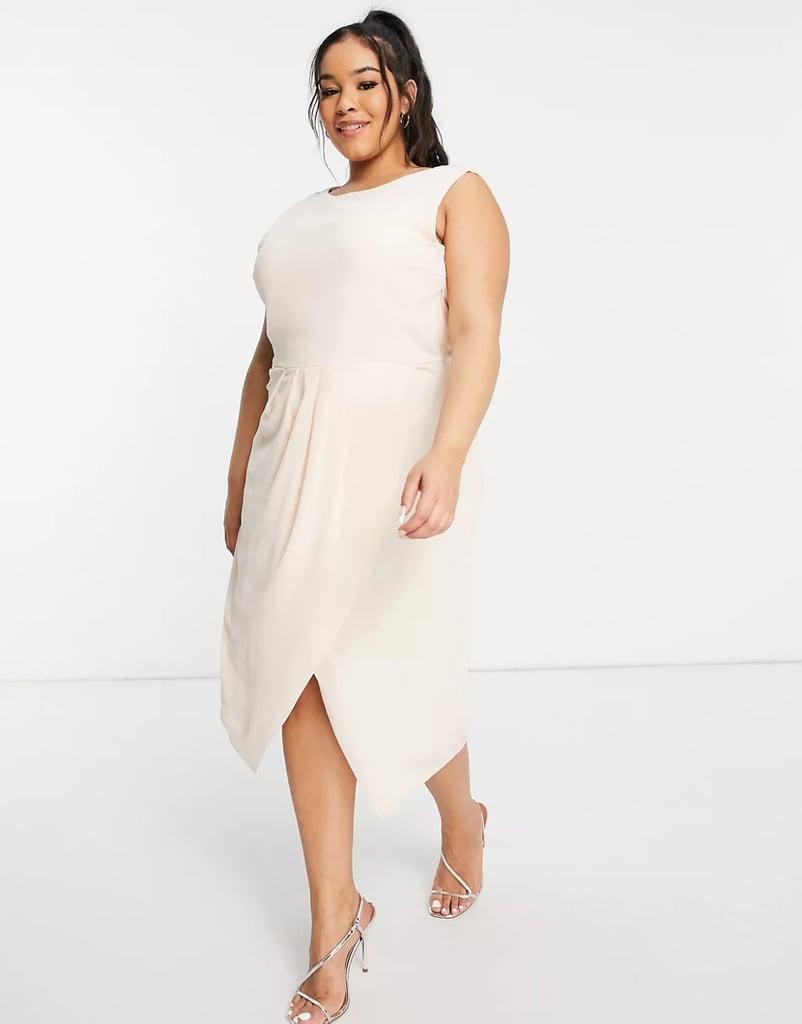 TFNC Cowl Back Midi Dress With Split