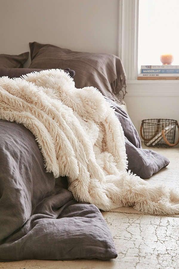 Plum & Bow Faux Fur Throw Blanket
