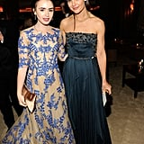 Lily Collins and Katie Holmes