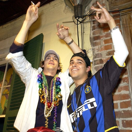 Ashton Kutcher and Wilmer Valderrama got the party started in New Orleans in 2003.