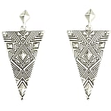 House of Harlow's engraved earrings ($65) help bring an Aztec touch to just about any look.