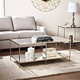 Sei Glam Metal and Glass Coffee Table