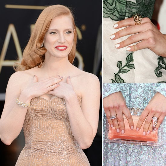 With celebrities dressing up for various red carpet affairs, it's easy to be inspired by their polished styles — right down to their manicure choices — for your own wedding day. POPSUGAR Beauty has rounded up some of their favorite nail color options and nail art details worthy of wearing to a wedding.