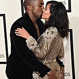 She and Kanye showed loads of PDA on the Grammys red carpet in February 2015.