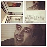 Nicolas Cage on the Photocopy Machine